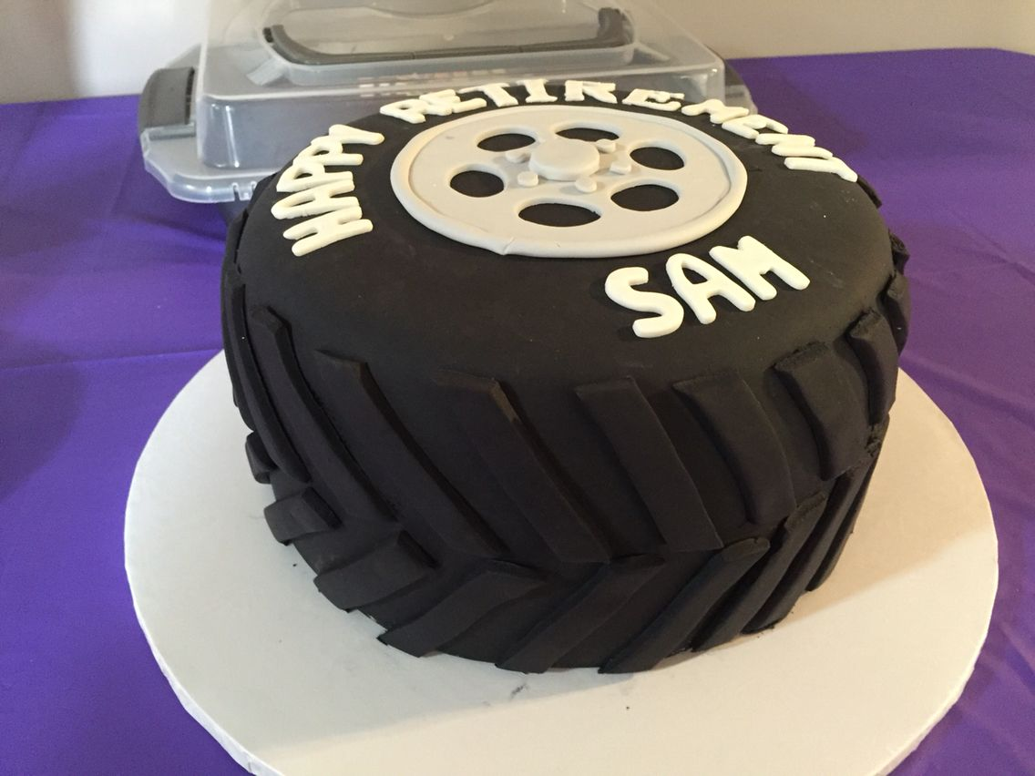 Retirement Cake For A Truck Driver