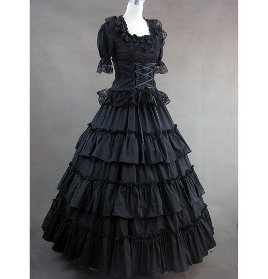 Cheap Black Gothic Victorian Dress With Lace Buy Cheap Black Gothic