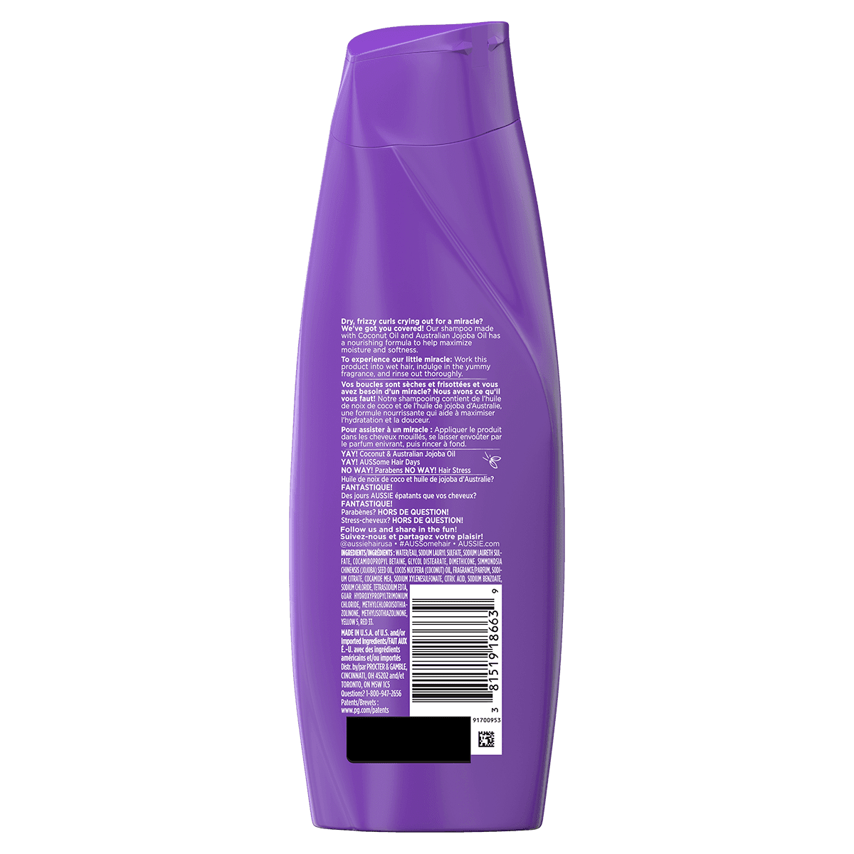 Aussie Miracle Curls shampoo for curly hair in 2020