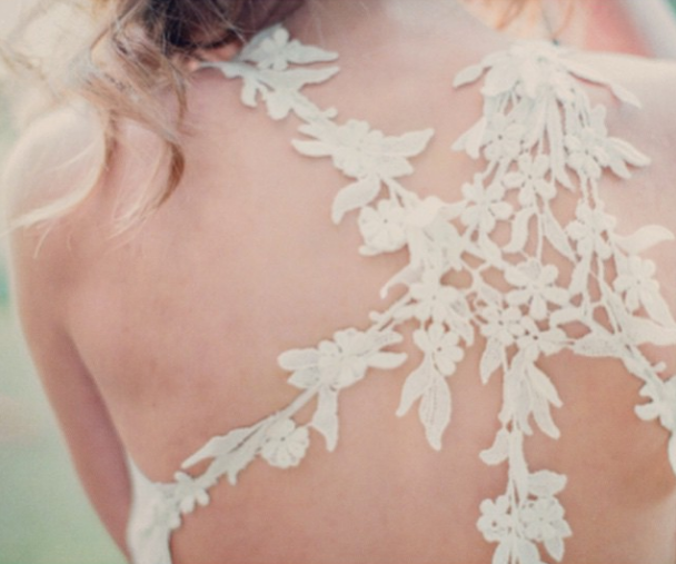 Back Details: Claire Pettibone 'Devotion' wedding dress, An Earthly Paradisde Collection http://www.clairepettibone.com/devotion