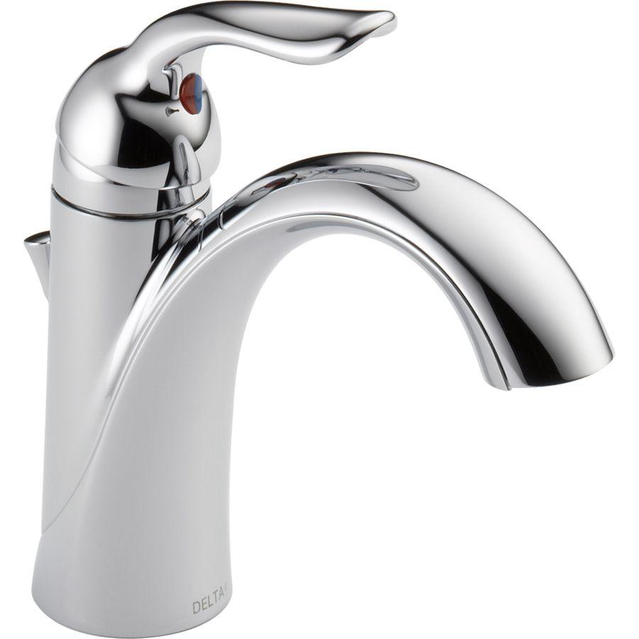 Delta Lahara Chrome 1Handle Single Hole4In Centerset Watersense Magnificent Delta Single Hole Bathroom Faucet Design Ideas