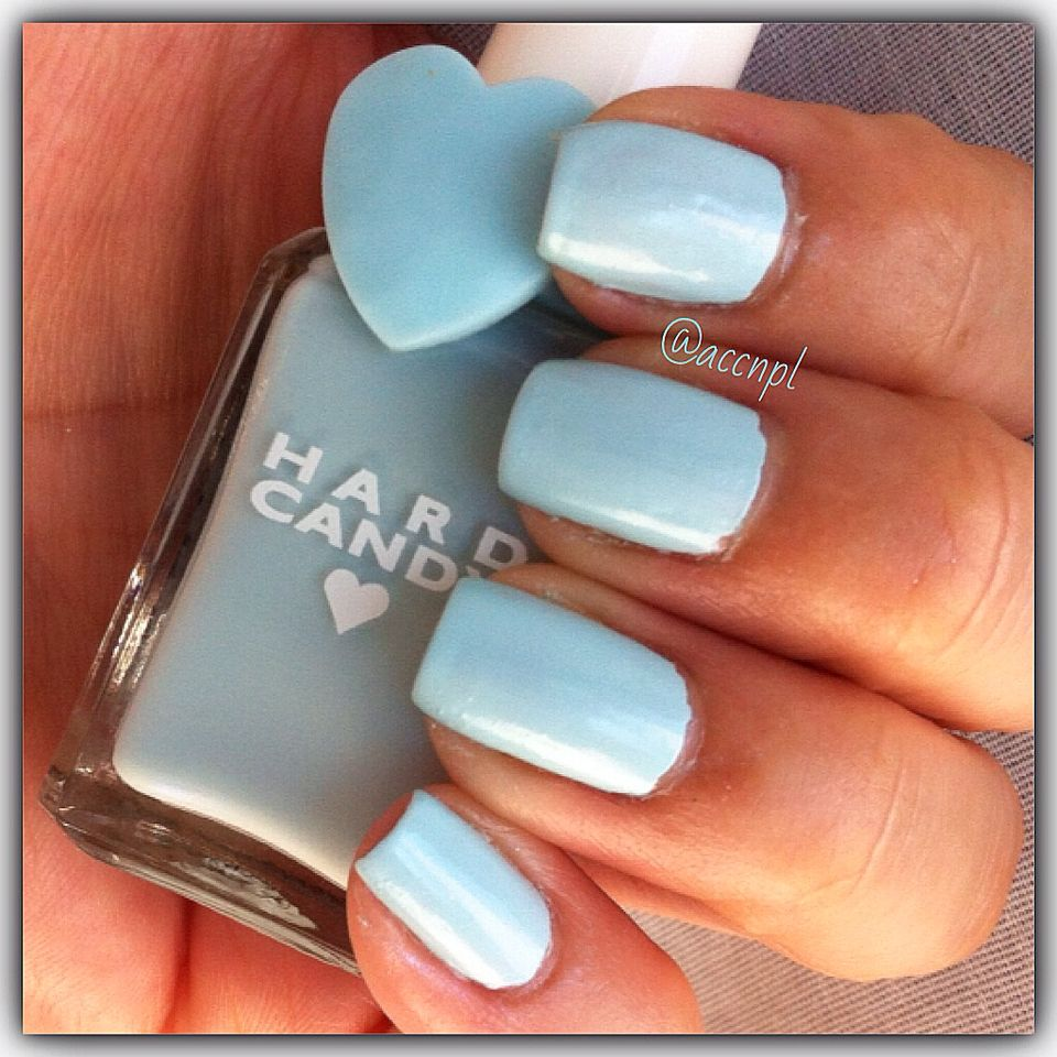 One coat and no top coat of Sky by Hard Candy. #HardCandy #nails ...