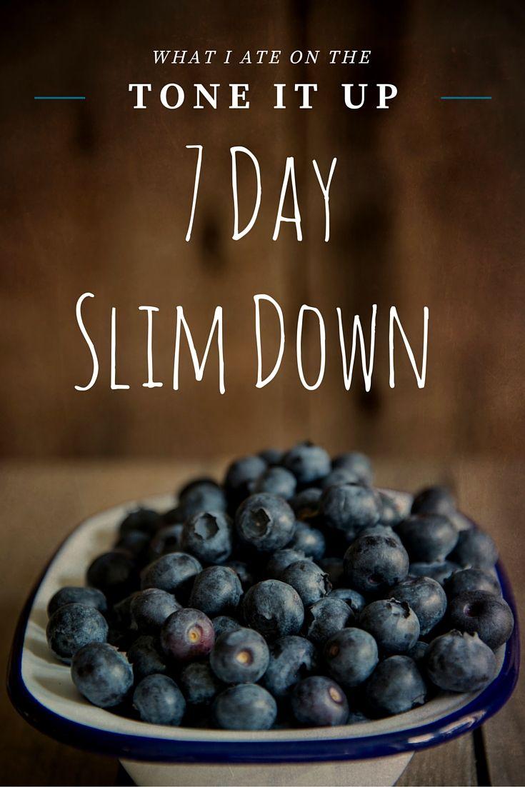 7 Day Slim Down Recap | Tone It Up Recipe Ideas | How to ...