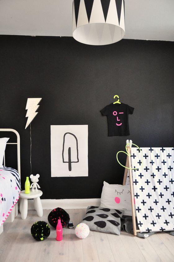 neon pop with chloeuberkid little gatherer kids rooms enfant deco idee deco. Black Bedroom Furniture Sets. Home Design Ideas
