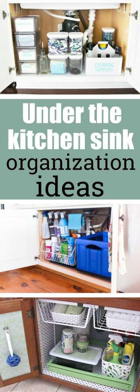 Under the kitchen sink organization ideas Organize Pinterest