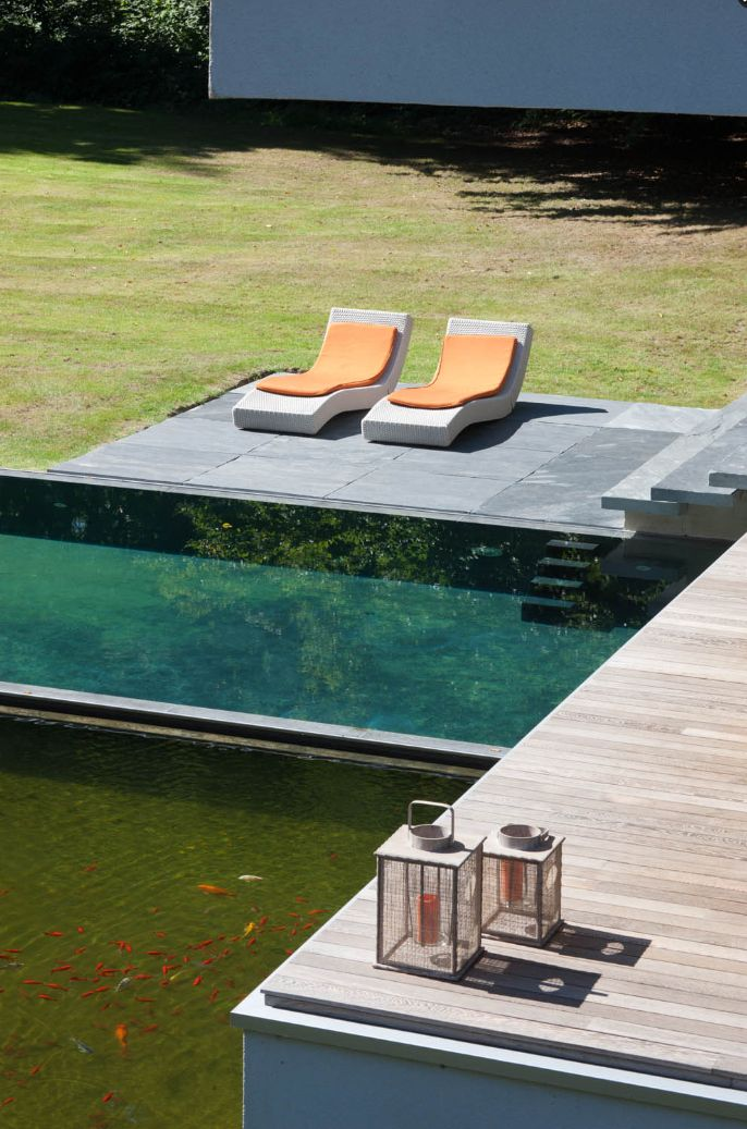 Infinity Pool Next To Koi Pond With Overlook Terrace Architecture Interior Architecture Design Architecture Photography