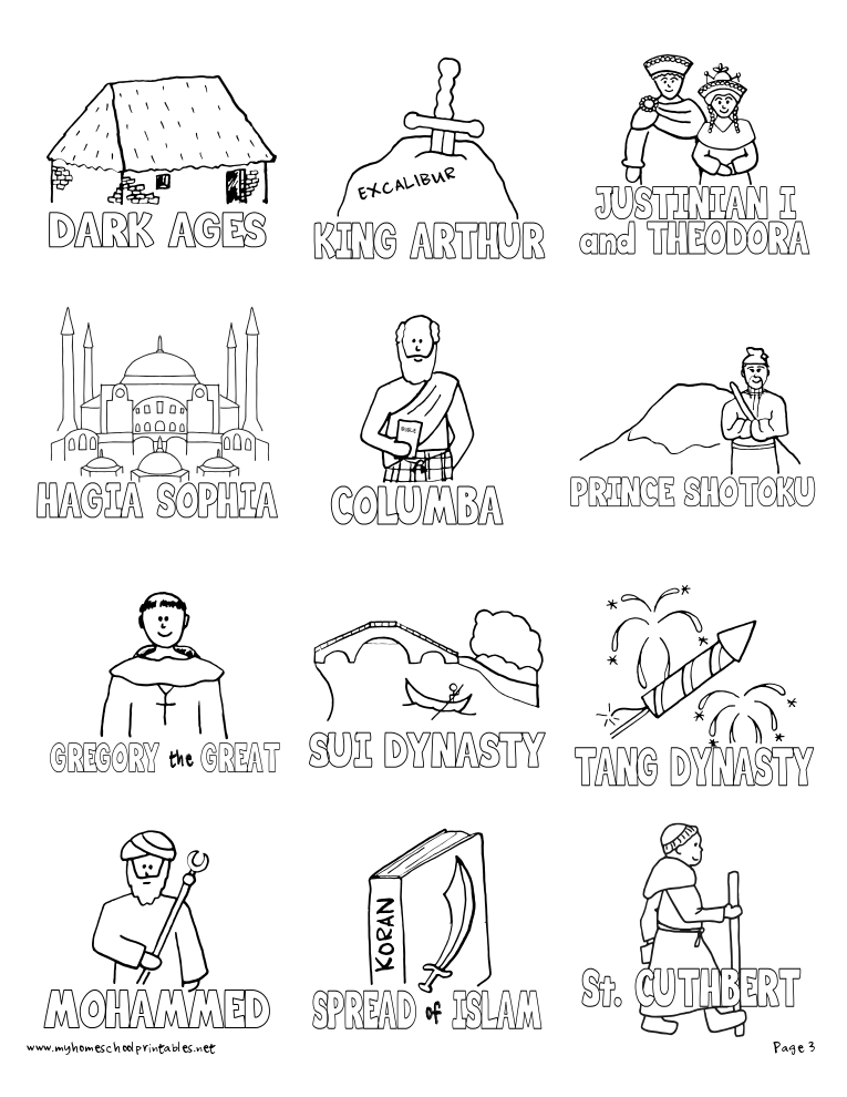 Mystery Of History Coloring Pages Free Coloring Pages