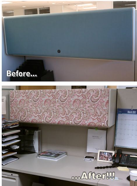Cover The Cabinet Fronts With Fabric.
