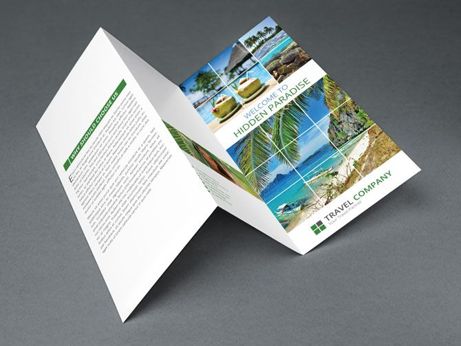 Free Travel Trifold Brochure Indesign Template Graphicdiffercom - Indesign templates brochure