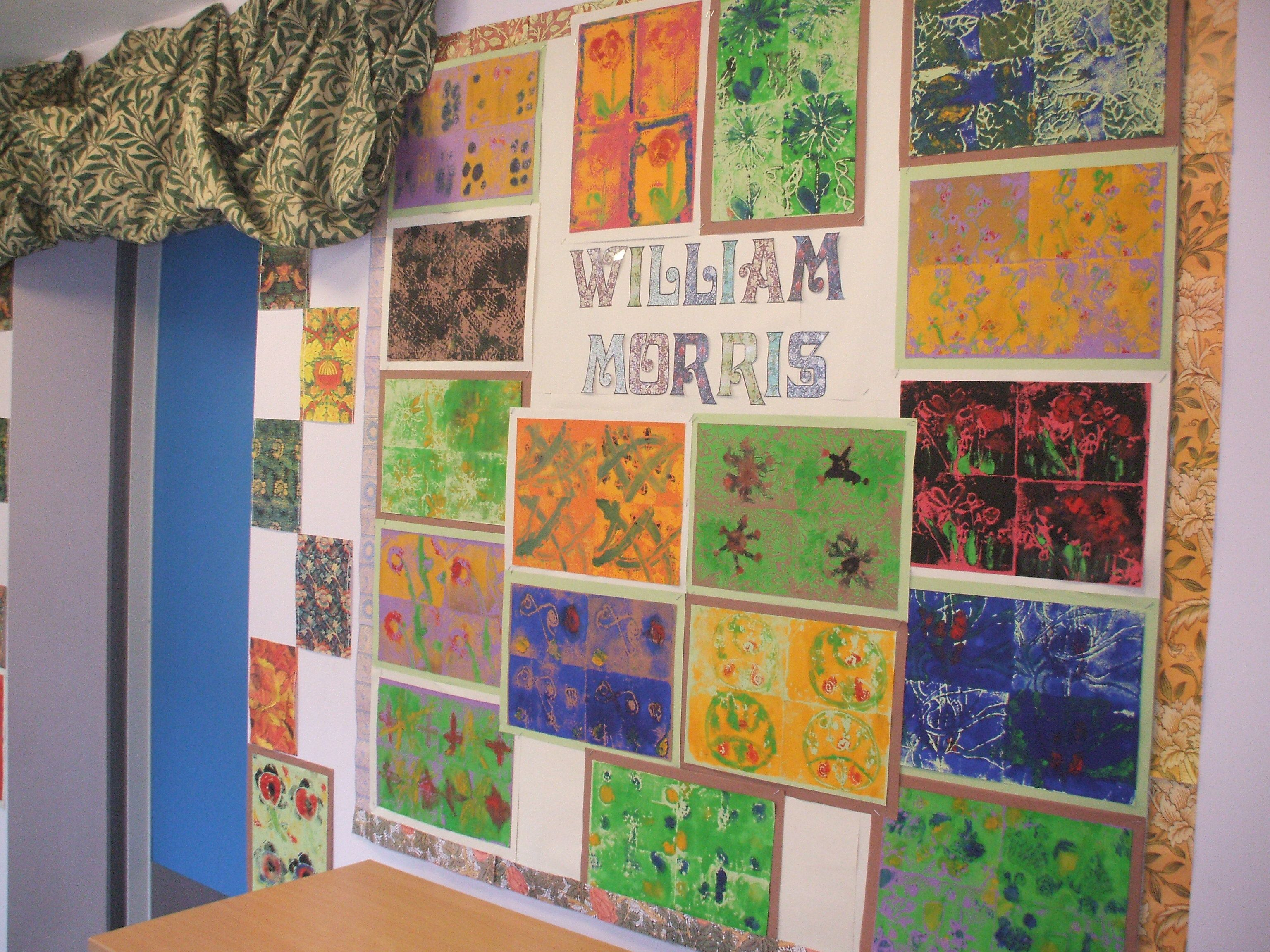 Classroom Display Ideas Victorians ~ William morris inspired lino prints designs etched onto