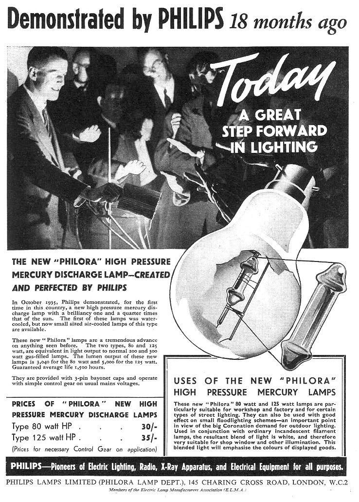 Philips Lighting Ad: 1930's