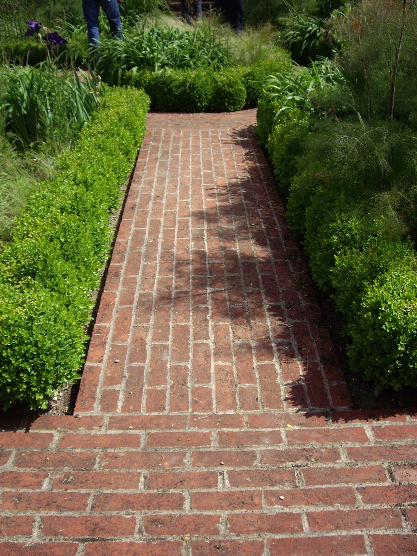 Brick path   Walkways   Pinterest   Brick path, Garden ideas and Gardens
