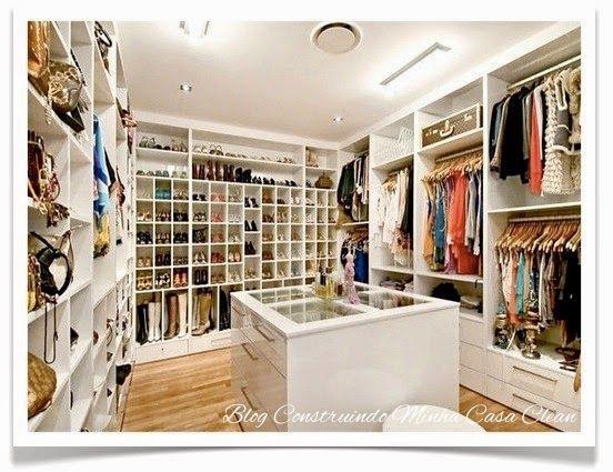 Construindo Minha Casa Clean: Closet Com ou Sem Porta? Modelos Lindos, Pequenos e Famosos!