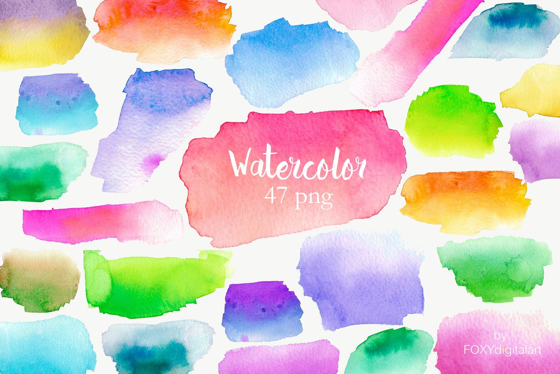 Watercolor Splotches Clipart Watercolor Splash Watercolor