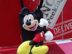 Disney Portable Hand Sanitizer With Mickey And Minnie Mouse Holder