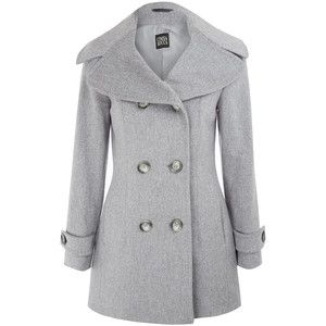 Cinzia Rocca Light Grey Loropian Wool Peacoat | Coats/jackets ...