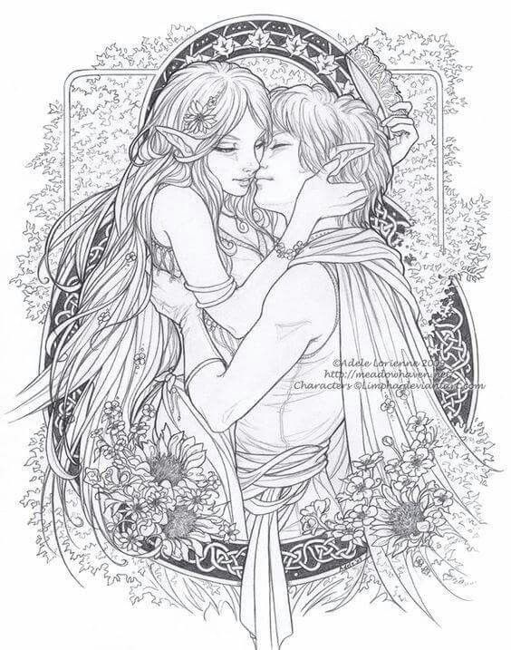 Soulmate24 Com Love Fairy Coloring Pages Coloring Pages Fairy Coloring
