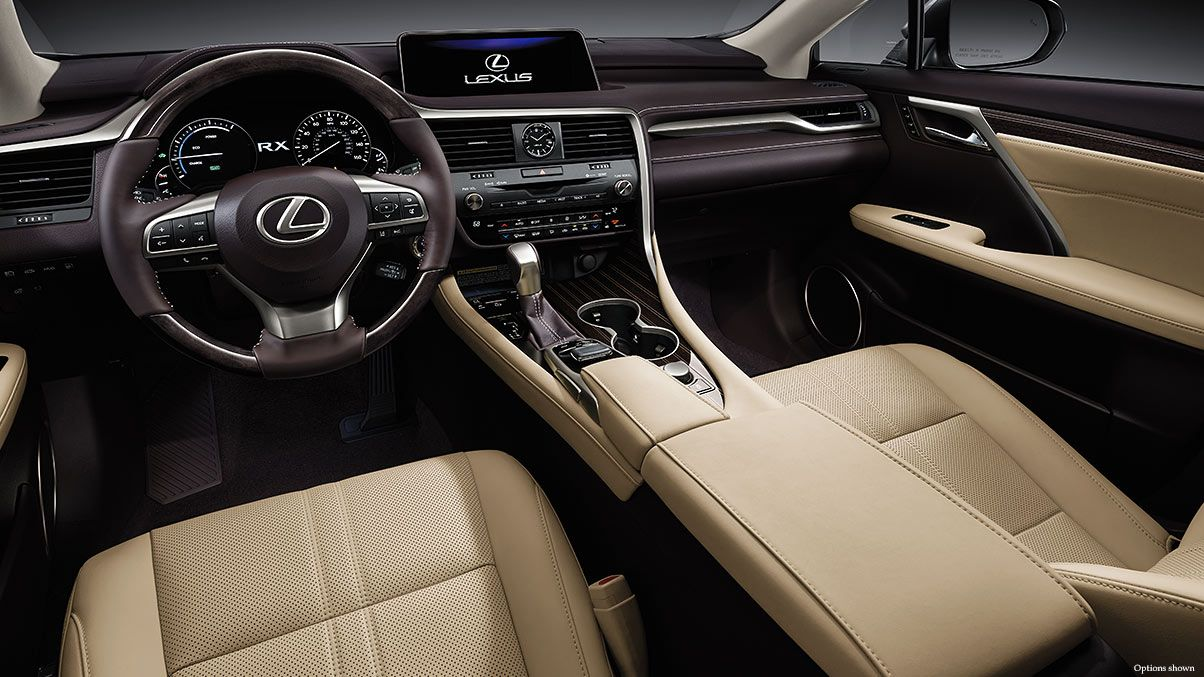 Interior Shot Of The 2017 Lexus Rx Shown With Parchment Leather Trim Lexus Suv Interior Luxury Crossovers Lexus Rx 350