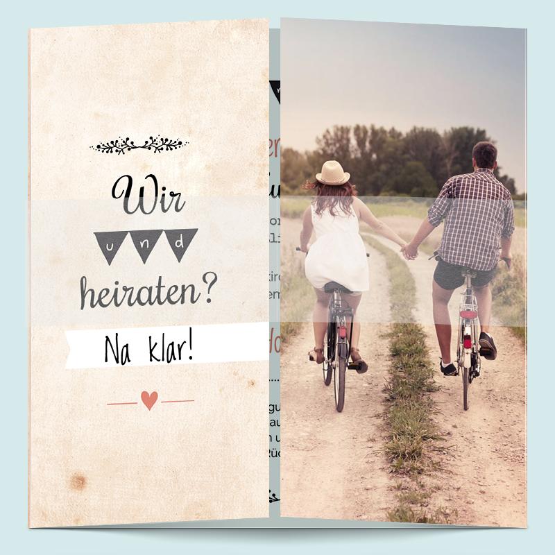 Hochzeitseinladungen retro romance feierlichkeiten pinterest hochzeitseinladung retro - Hochzeitseinladungskarten vintage ...