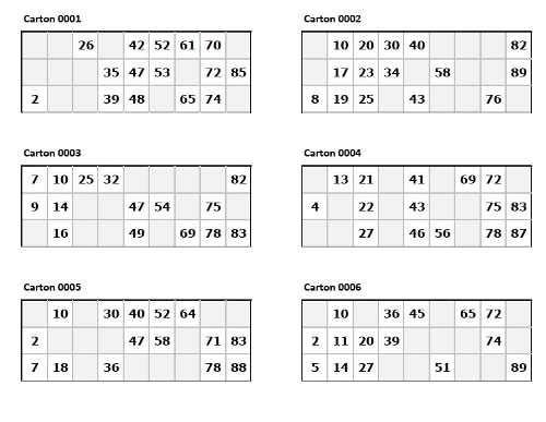 Cartones De Bingo En Pdf Para Imprimir Bs 100 00 En Mercadolibre Bingo Printable Bingo Tambola Game