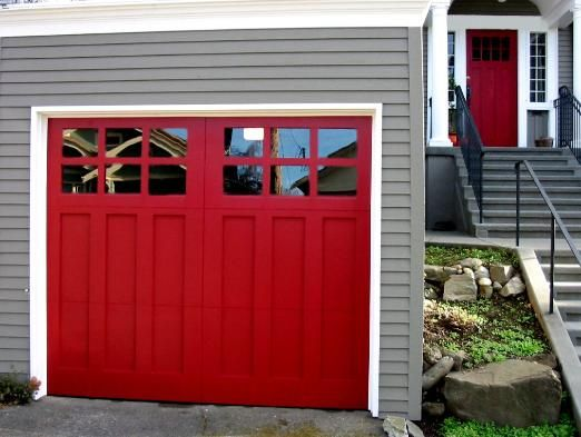 Real Carriage Garage Doors For Your Carriage House Built And Installed To Roll Up In Sections As Traditional G Garage Doors Red Door House Carriage House Doors