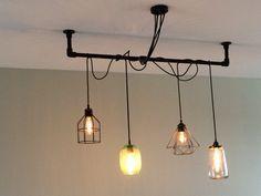 Zwarte Slaapkamer Lamp : Zwarte steigerbuizen lamp ophanging lampslaapkamer lamp