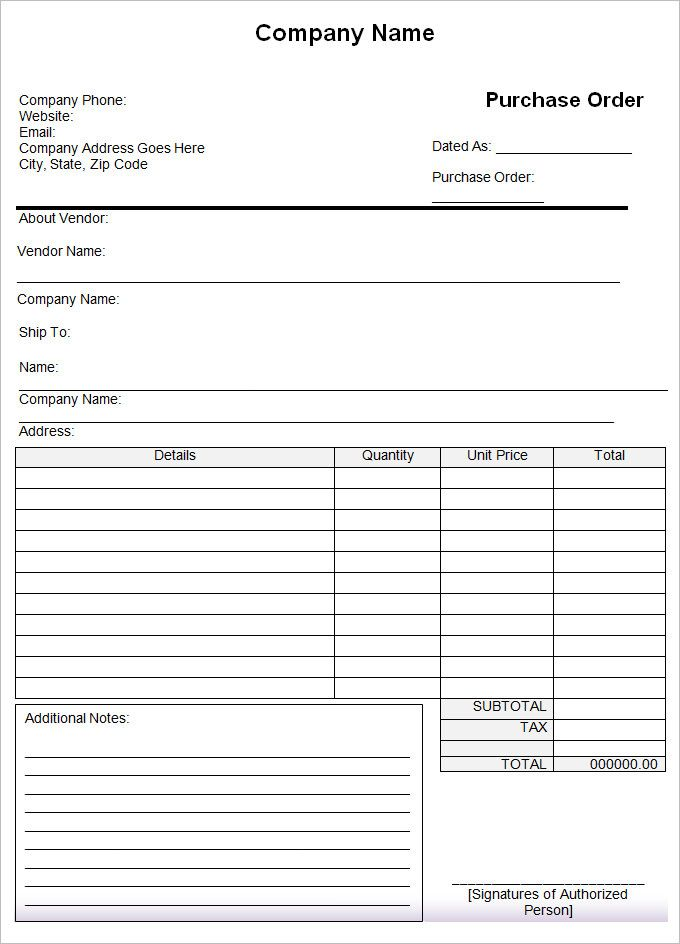 Purchase Order Template - 43 Free Word, Excel, PDF Documents - purchase order templete