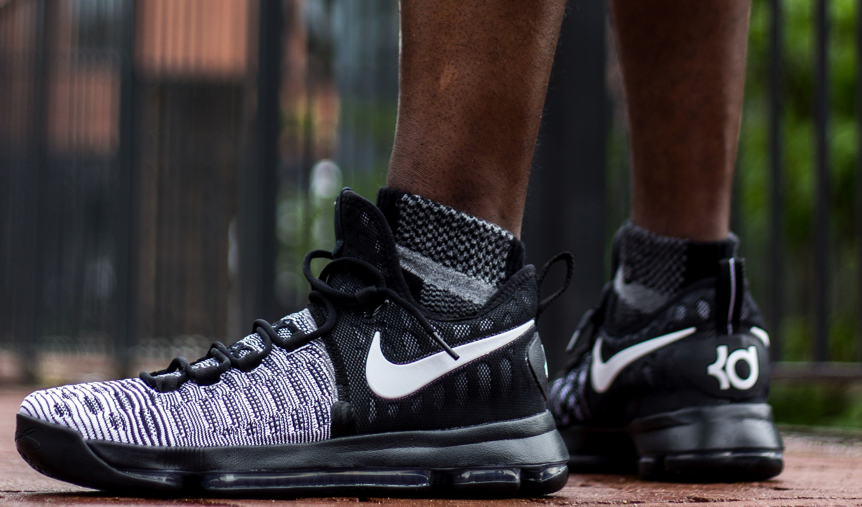 buy online a20a0 d2d1b Check Out These On-Feet Images Of The Black  White Nike KD 9