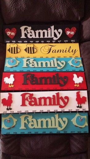 Sweet T's Custom Creations .... some of the Family Birthday Signs Im working on  : )