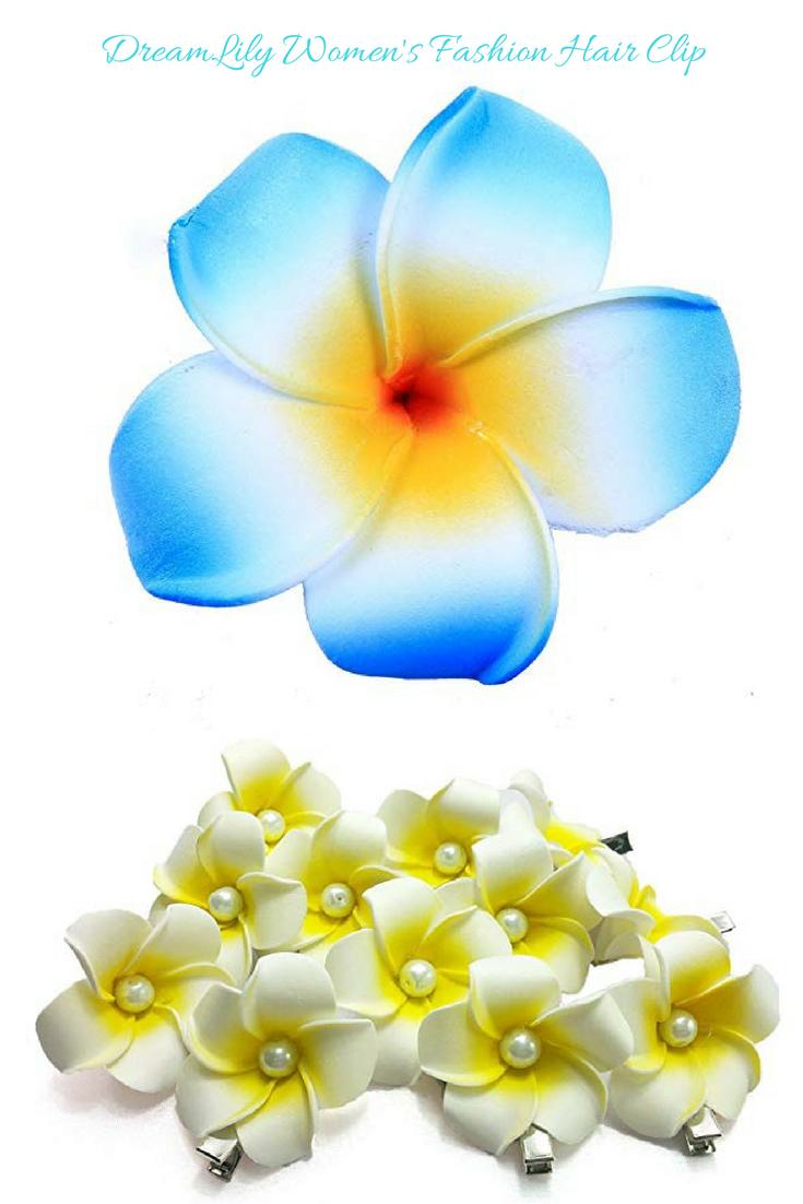 Women S Fashion 3 Pcs Hawaiian White Plumeria Flower Foam Hair Clip Balaclavas For Beach Hairclip Floral Hairaccessories With Images Hair Clips Plumeria Flower Crown