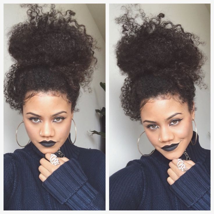 Image Result For Messy Bun And Bangs On Curly Hair Bun Slay