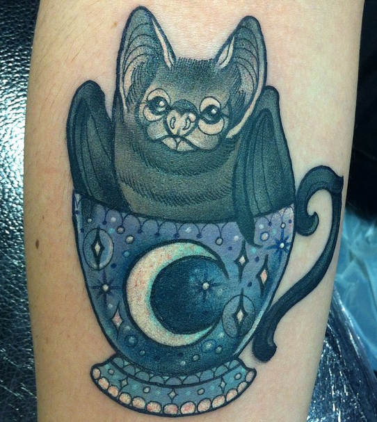 tattoo by Charlotte Timmons @charlotte_eleanor88 <<< oP --- bat in a ...
