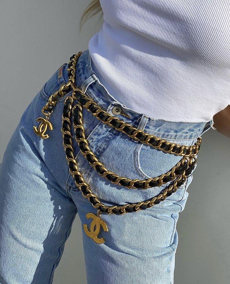 Chanel belt in 2020 replica handbags chanel slingback