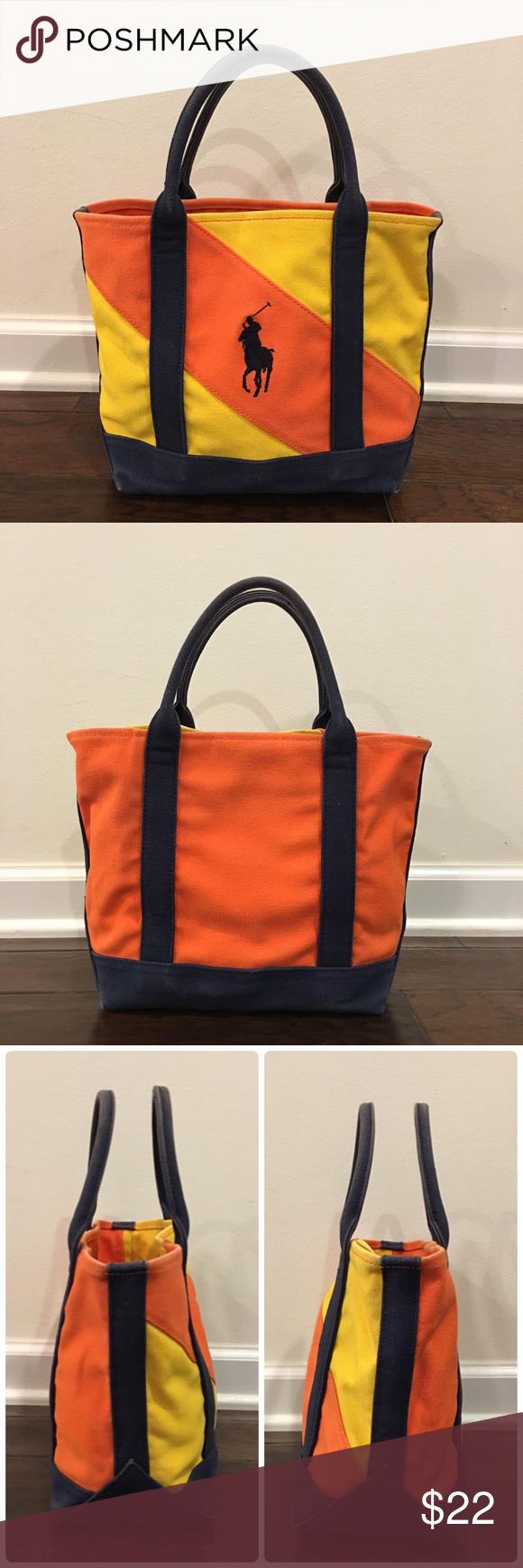 24af58adf13b Authentic Ralph Lauren Tote Canvas Bag - Medium Authentic Ralph Lauren Tote  Canvas Bag - M