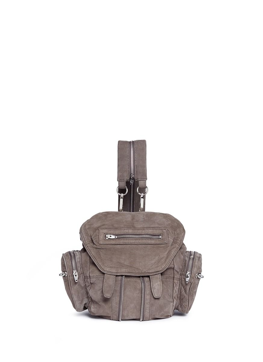 ALEXANDER WANG 'Mini Marti' nubuck leather three-way backpack. #alexanderwang #bags #leather #lining #backpacks #