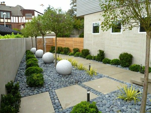 decoracion jardienes con piedras ARQ ext Pinterest Patios and