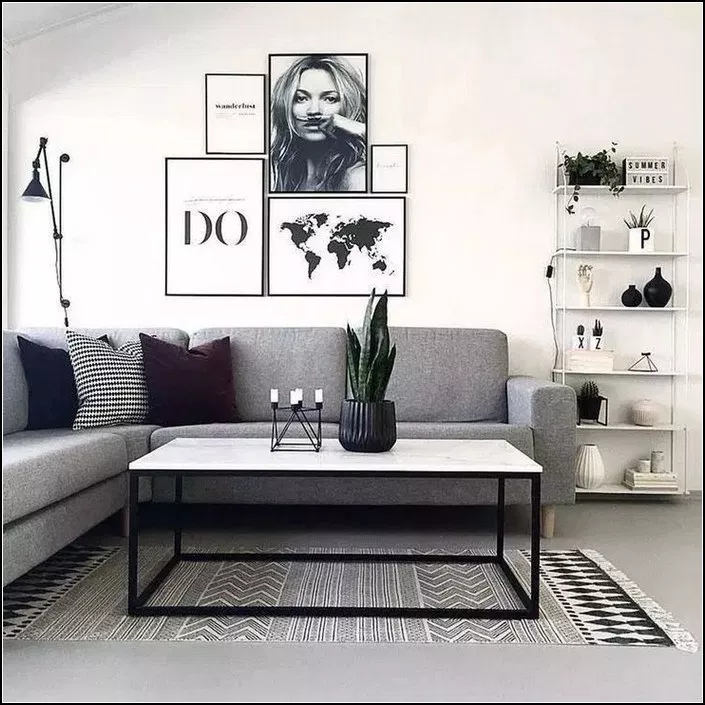 145 Simple And Modern Living Room Designs For Quiet People 11 Mantulgan Me Apartment Decorating Living Living Room Decor Apartment Living Room Decor Modern