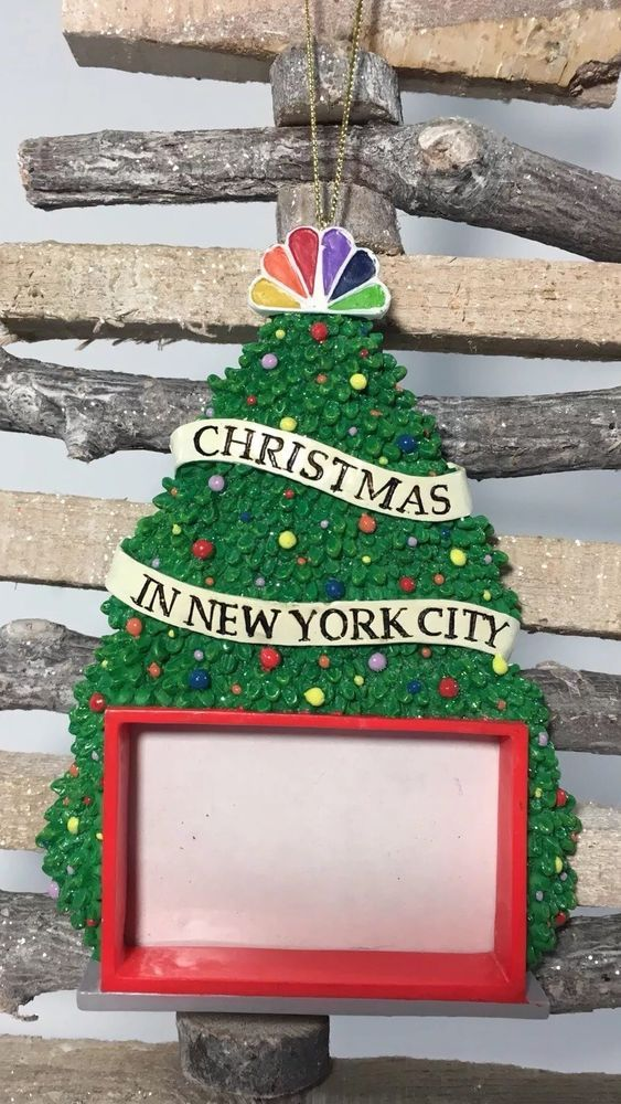 new york city christmas ornament nbc studios photo picture frame tree big apple ebay - Ebay Christmas Decorations
