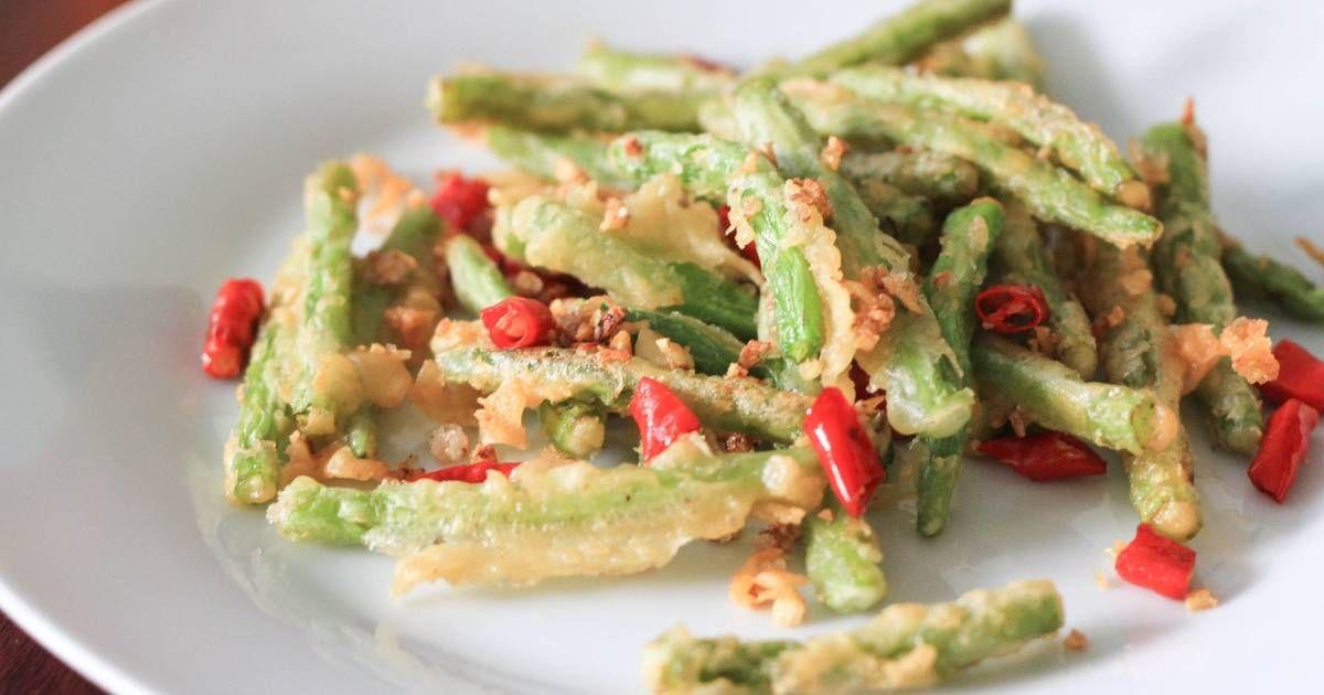 Resep Buncis Cabe Garam Khas Restoran Chinese Food Oleh Ekitchen Resep Resep Makanan Cina Makanan Makanan Dan Minuman