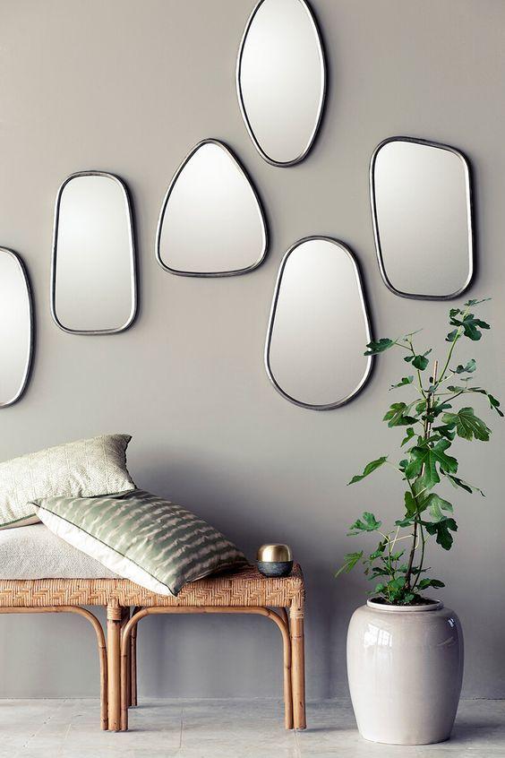 Tendance déco habiller une pièce avec des miroirs carré de lhabitat