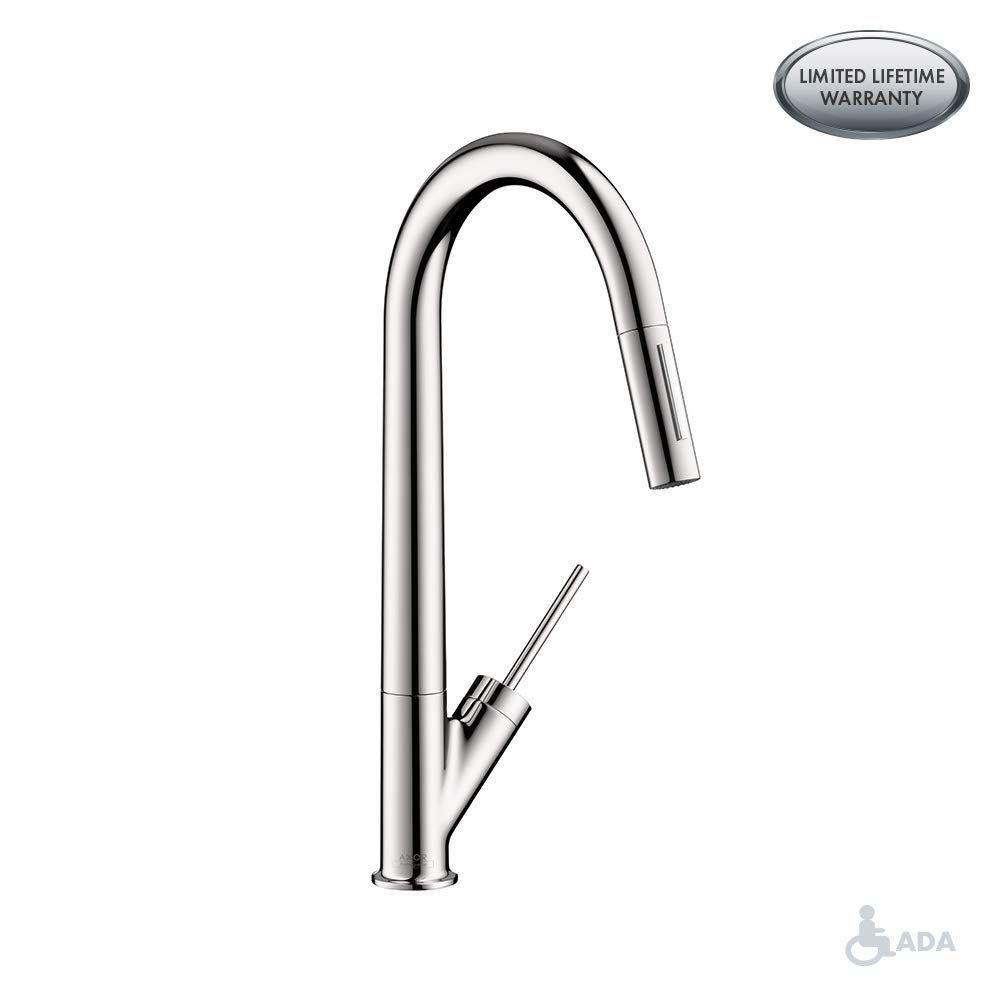 Hansgrohe 10821001 Starck Higharc Kitchen Faucet Chrome Click