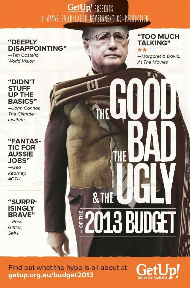 Getup aus budget response campaign