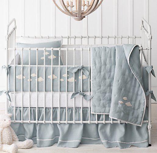 Bouclé Cloud Nursery Bedding Collection In Or Mist Color