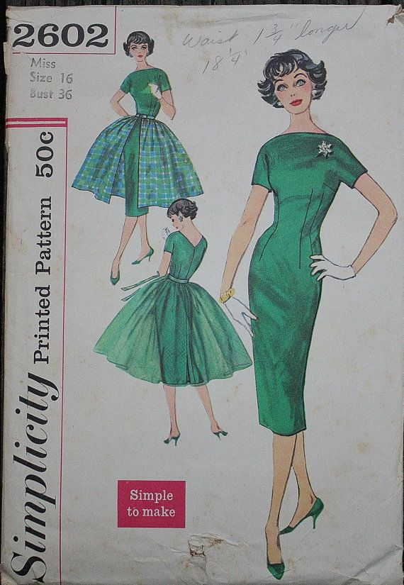 Simplicity 2602 1950s 50s Hostess Ensemble by EleanorMeriwether ...
