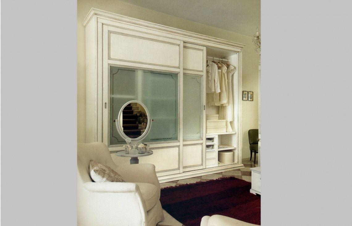 1020 Armario De Puertas Correderas Lacado En Blanco Con Cristales  # Muebles Torres Y Gutierrez