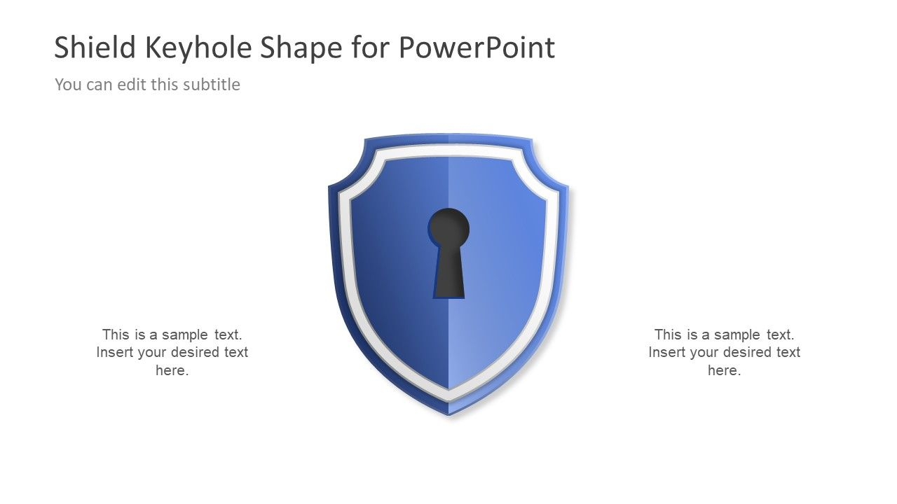 Shield keyhole diagram concept for powerpoint diagram and template shield keyhole diagram concept for powerpoint slidemodel ccuart Images
