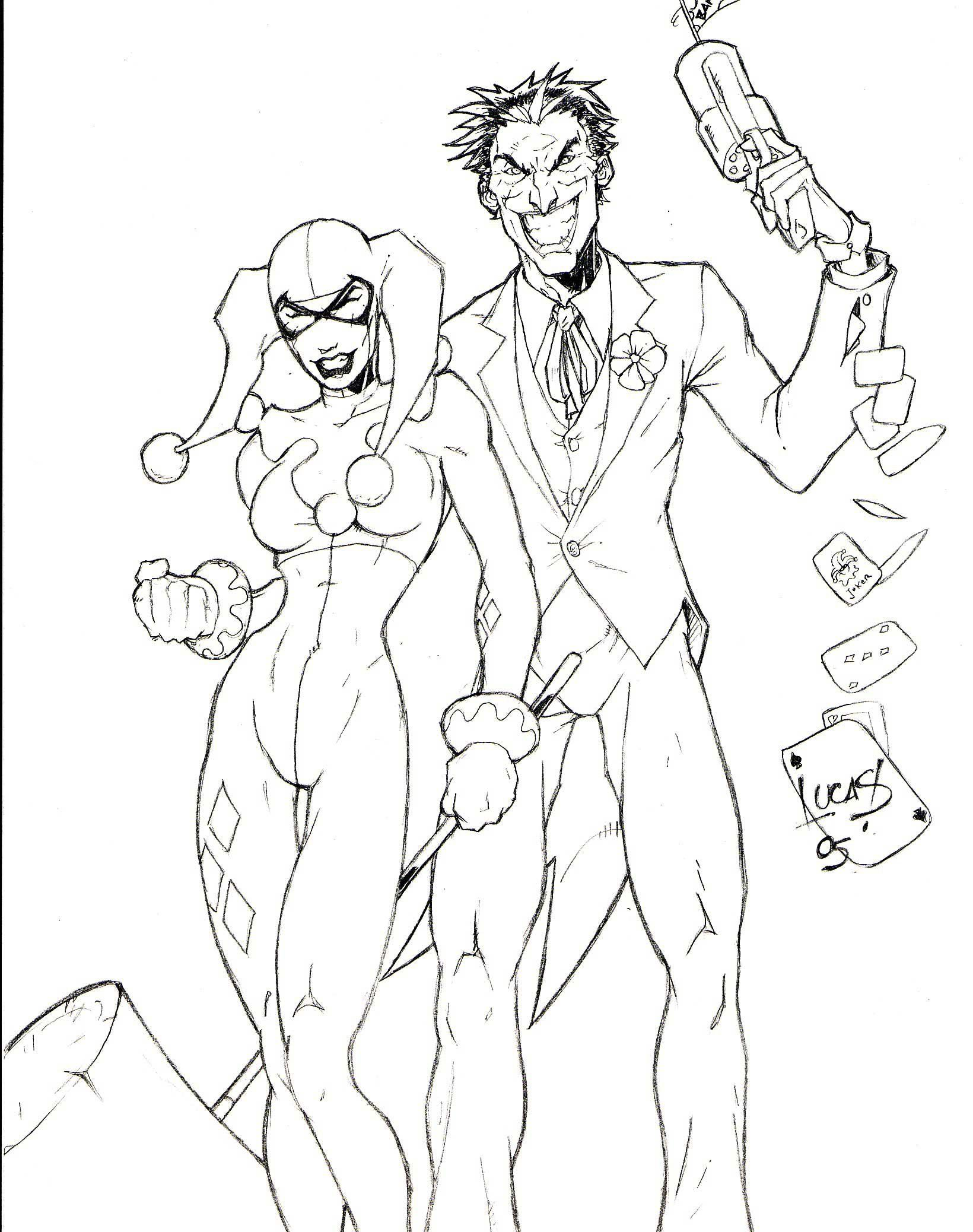 joker and harley quinn coloring pages Harley quinn coloring pages to download and print for free  joker and harley quinn coloring pages