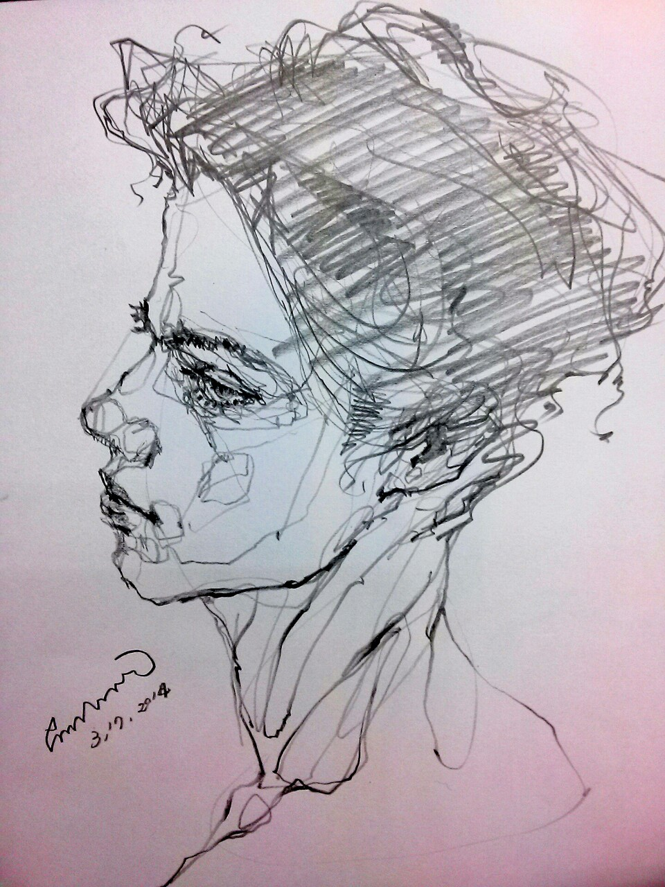 Drawing by Saera — Are you gonna stay the night  Doesn't mean we're...