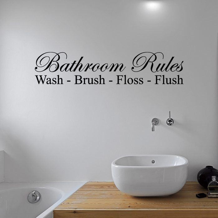 bathroom rules wall sticker. browse our huge range of beautiful wall