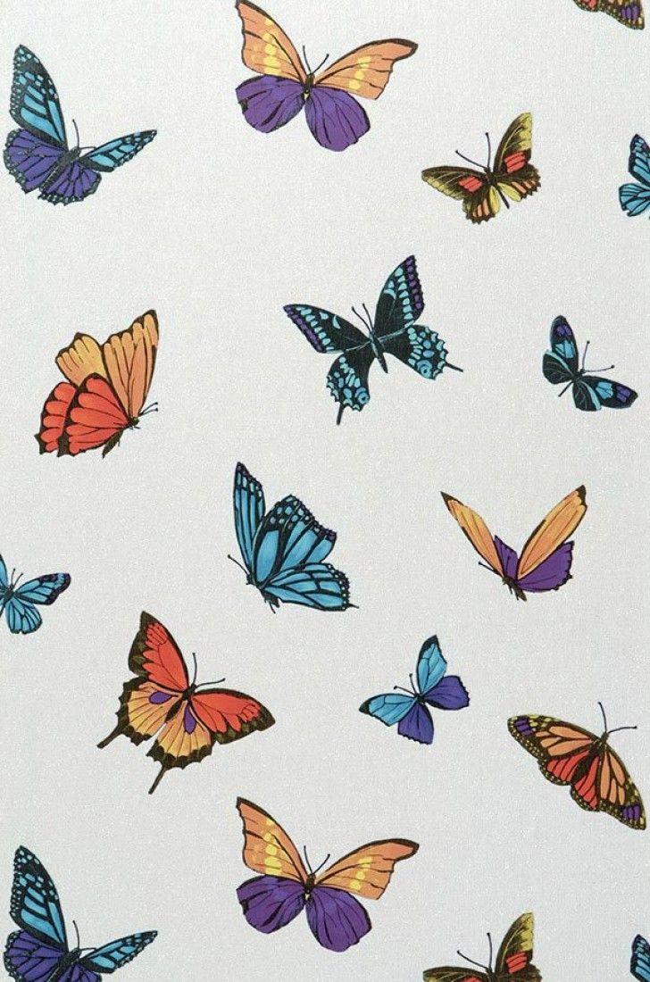 Carta da parati Lumiere arancio salmone   Butterfly ...